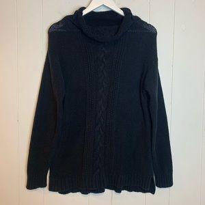Chaps Cowl Neck Sweater Size XL Black